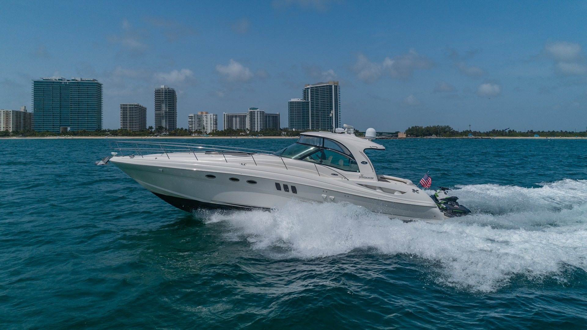 Image #1 of our  55′ SEARAY SUNDANCER   () In Miami Fort Lauderdale Palm Beach South Florida