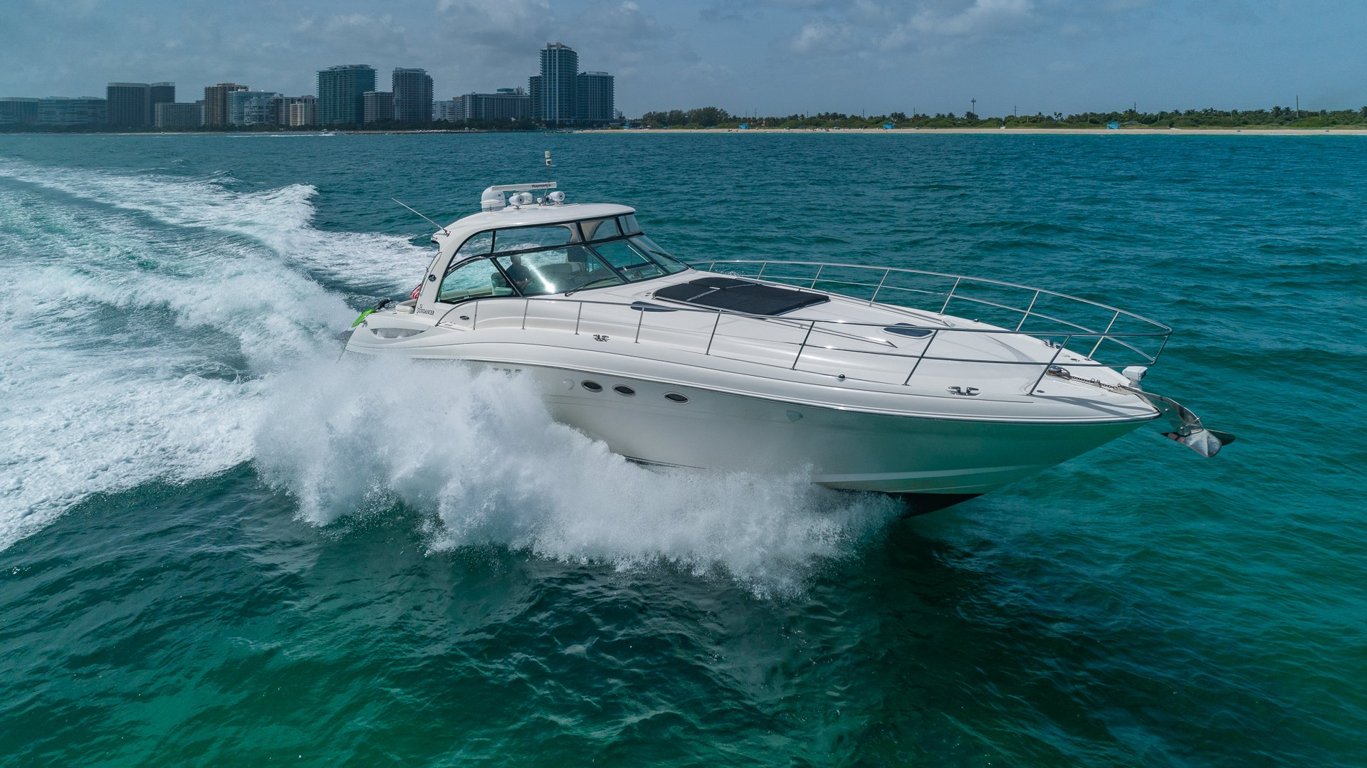 Image #3 of our  55′ SEARAY SUNDANCER   () In Miami Fort Lauderdale Palm Beach South Florida