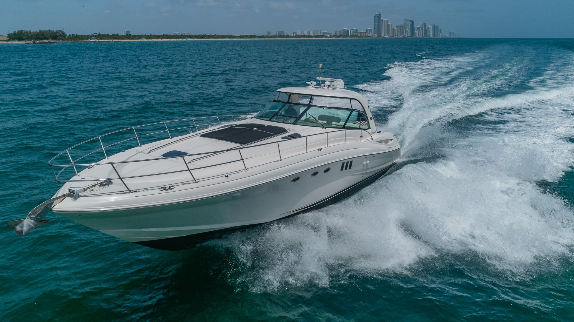 Image #7 of our  55′ SEARAY SUNDANCER   () In Miami Fort Lauderdale Palm Beach South Florida