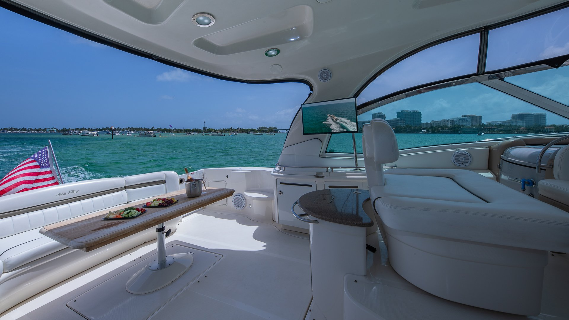 Image #11 of our  55′ SEARAY SUNDANCER   () In Miami Fort Lauderdale Palm Beach South Florida