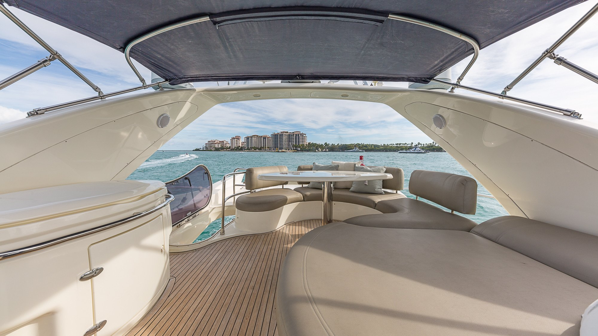 Image #5 of our  68′ AZIMUT   () In Miami Fort Lauderdale Palm Beach South Florida