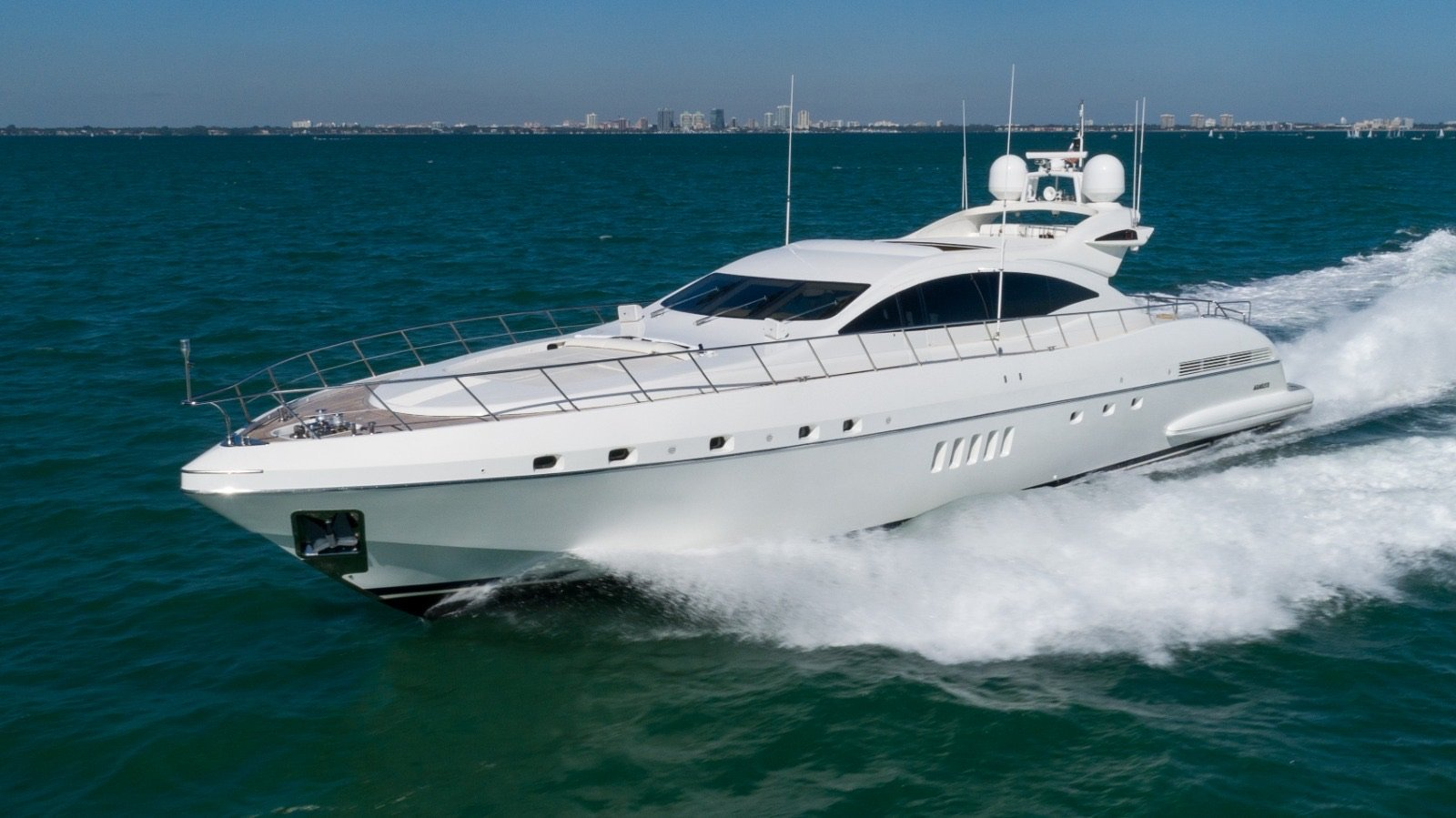 Image #0 of our  92′ MANGUSTA   () In Miami Fort Lauderdale Palm Beach South Florida