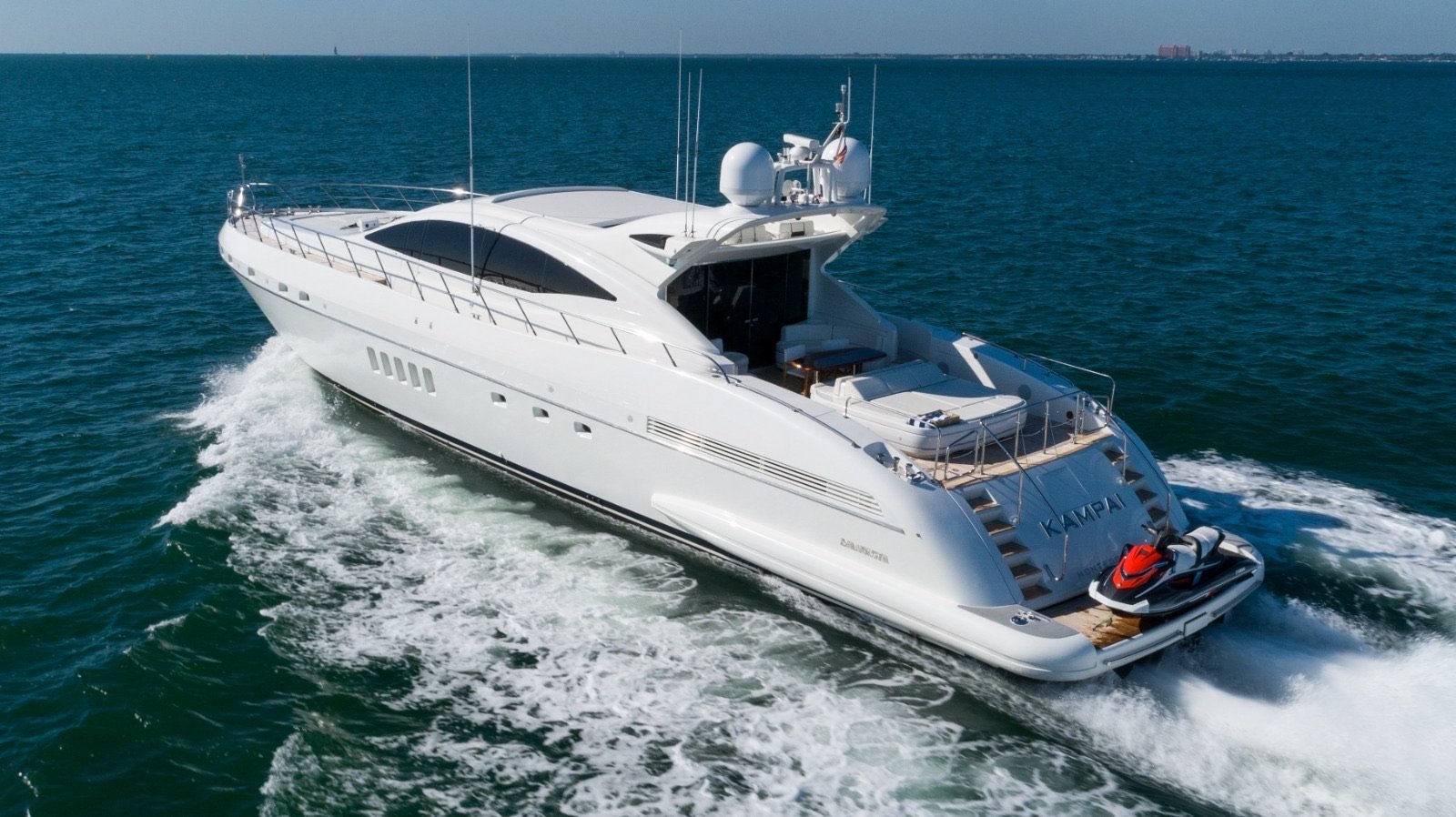 Image #2 of our  92′ MANGUSTA   () In Miami Fort Lauderdale Palm Beach South Florida