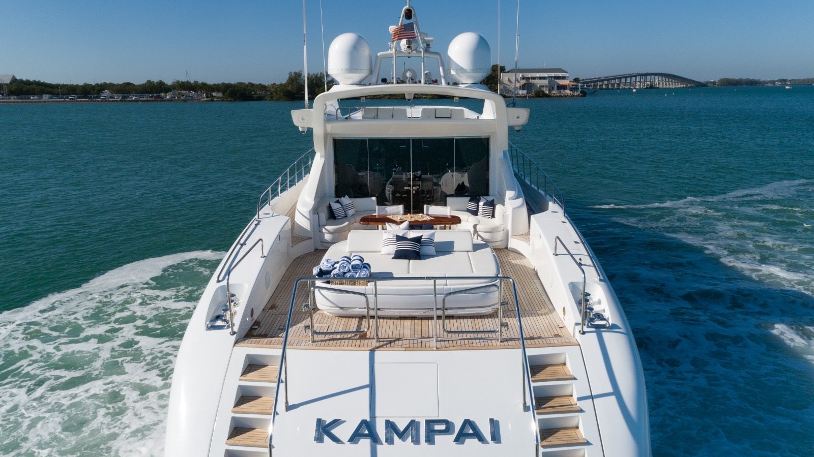 Image #5 of our  92′ MANGUSTA   () In Miami Fort Lauderdale Palm Beach South Florida