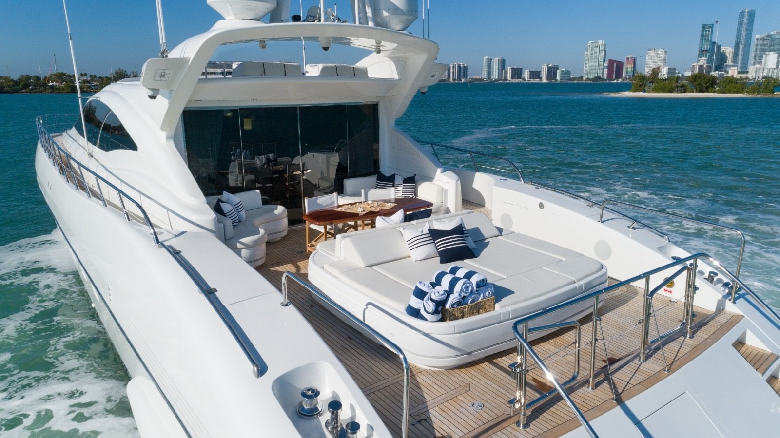 Image #6 of our  92′ MANGUSTA   () In Miami Fort Lauderdale Palm Beach South Florida
