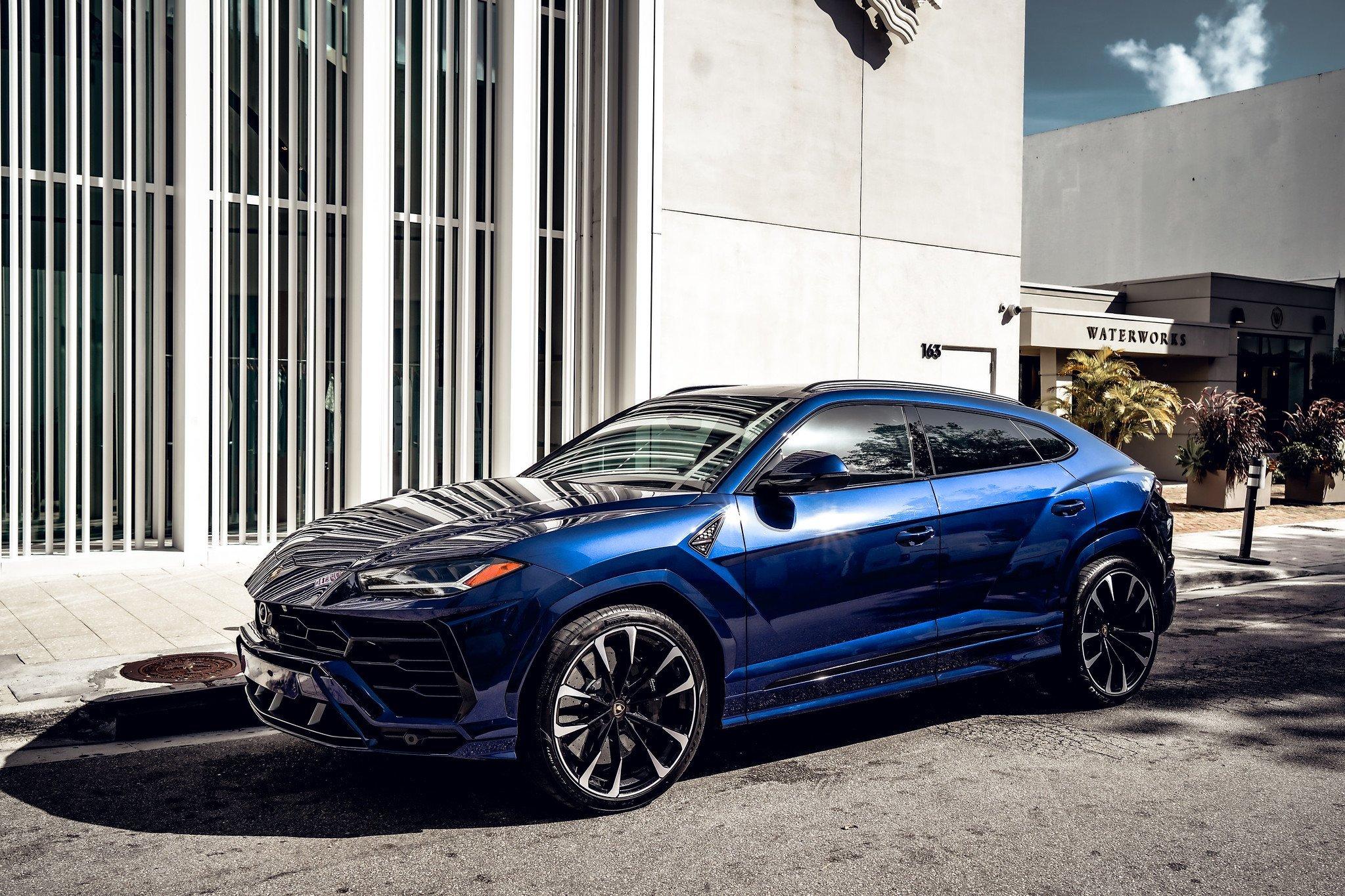 Image #0 of our  2021 Lamborghini Urus - Dark Blue    In Miami Fort Lauderdale Palm Beach South Florida