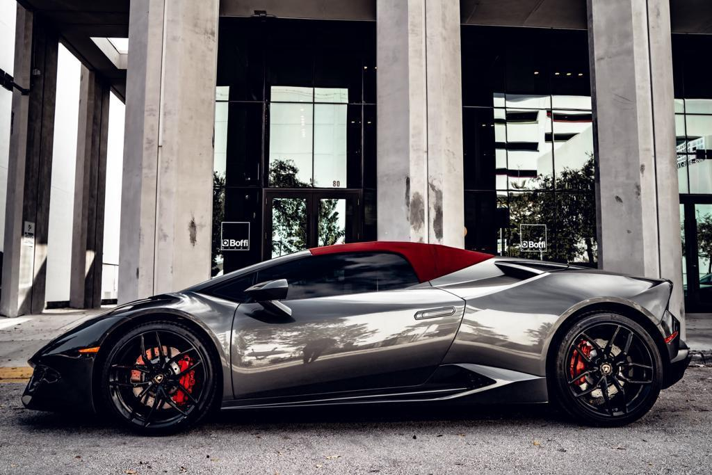 Image #15 of our  Lamborghini Huracan Spyder - Gray    In Miami Fort Lauderdale Palm Beach South Florida