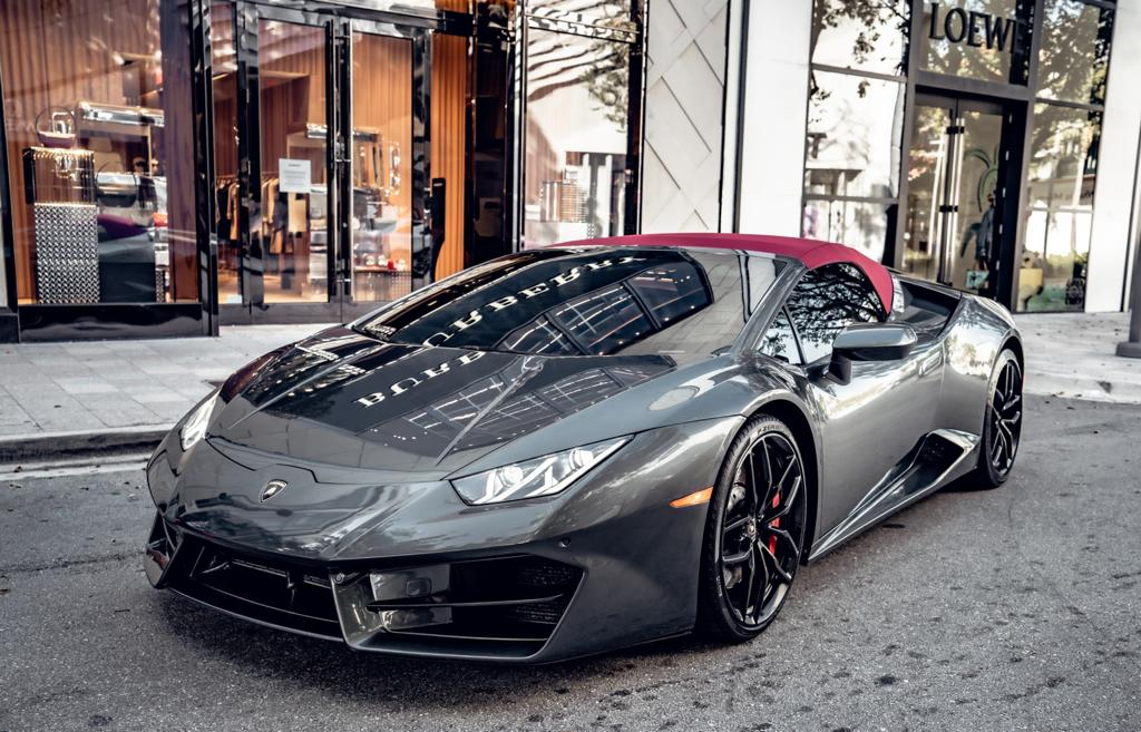 Image #18 of our  Lamborghini Huracan Spyder - Gray    In Miami Fort Lauderdale Palm Beach South Florida