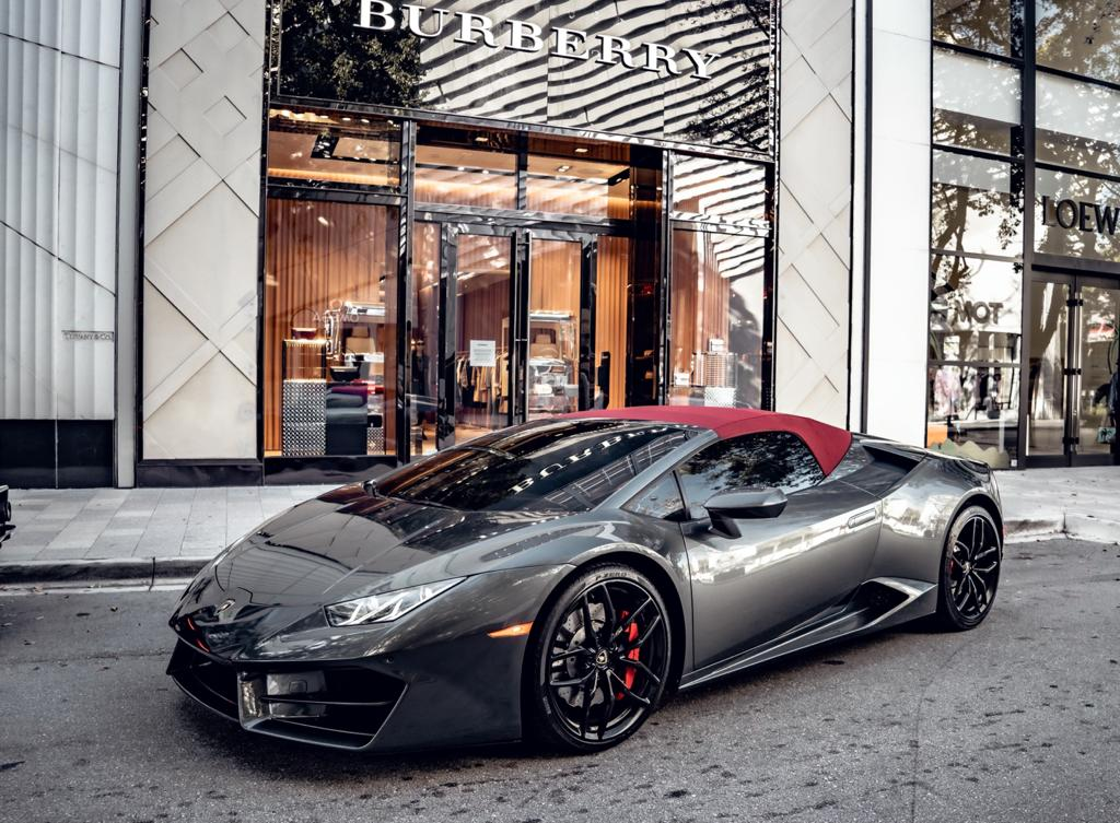 Image #21 of our  Lamborghini Huracan Spyder - Gray    In Miami Fort Lauderdale Palm Beach South Florida