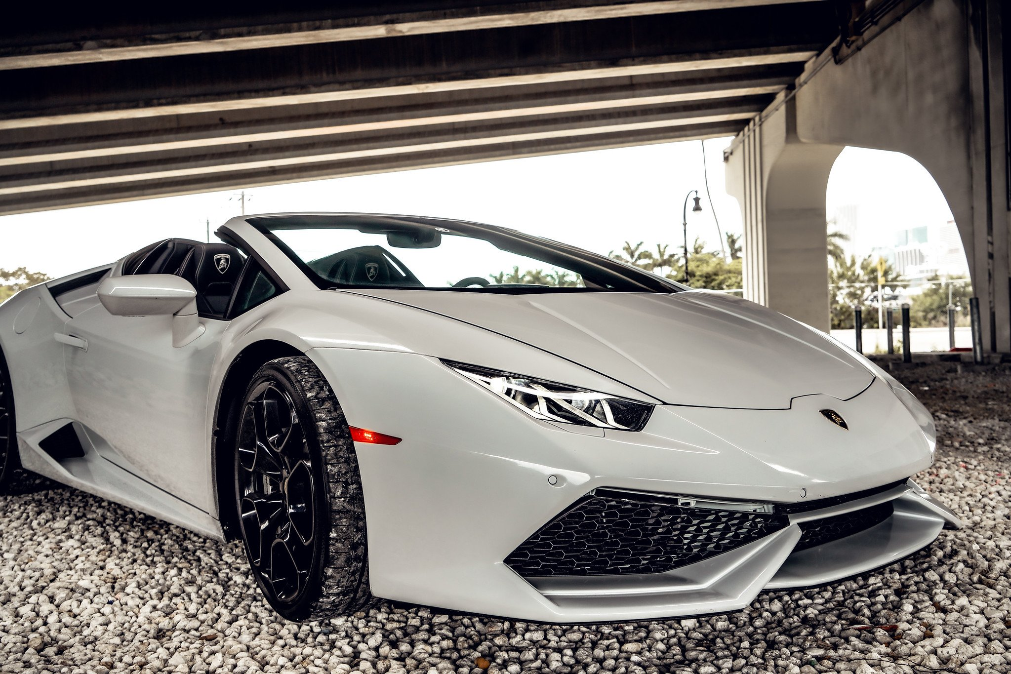 Image #4 of our  Lamborghini Huracan - White    In Miami Fort Lauderdale Palm Beach South Florida
