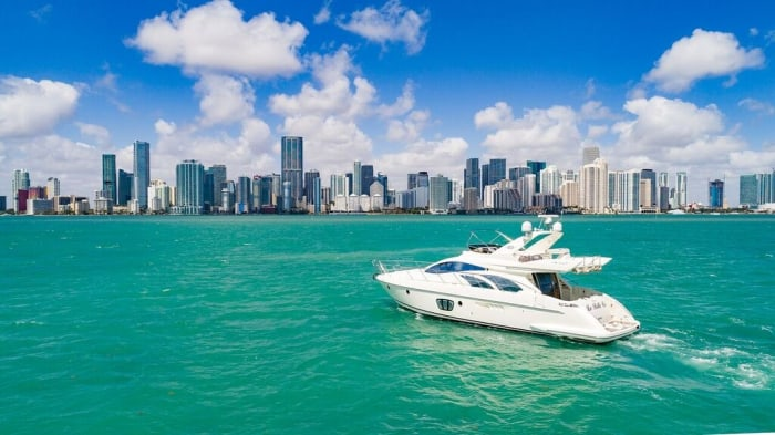 Image #1 of our  55′ AZIMUT   () In Miami Fort Lauderdale Palm Beach South Florida