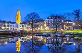 Fietsroute langs het water van Zwolle