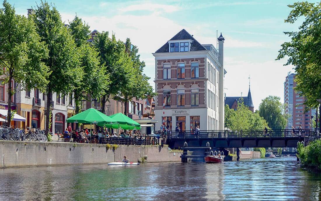 Fietstocht door Groningen centrum