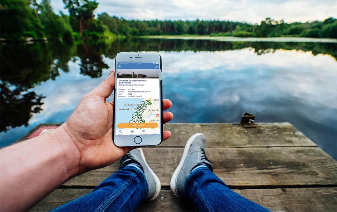 Genieten met de gratis Fietsroute App van Fietsnetwerk.nl