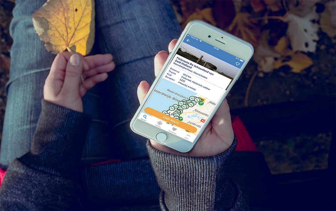Knooppuntenroutes in de Fiets App