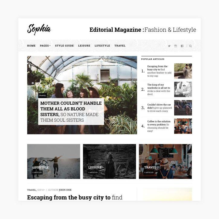 Sophia - Magazine WordPress Theme