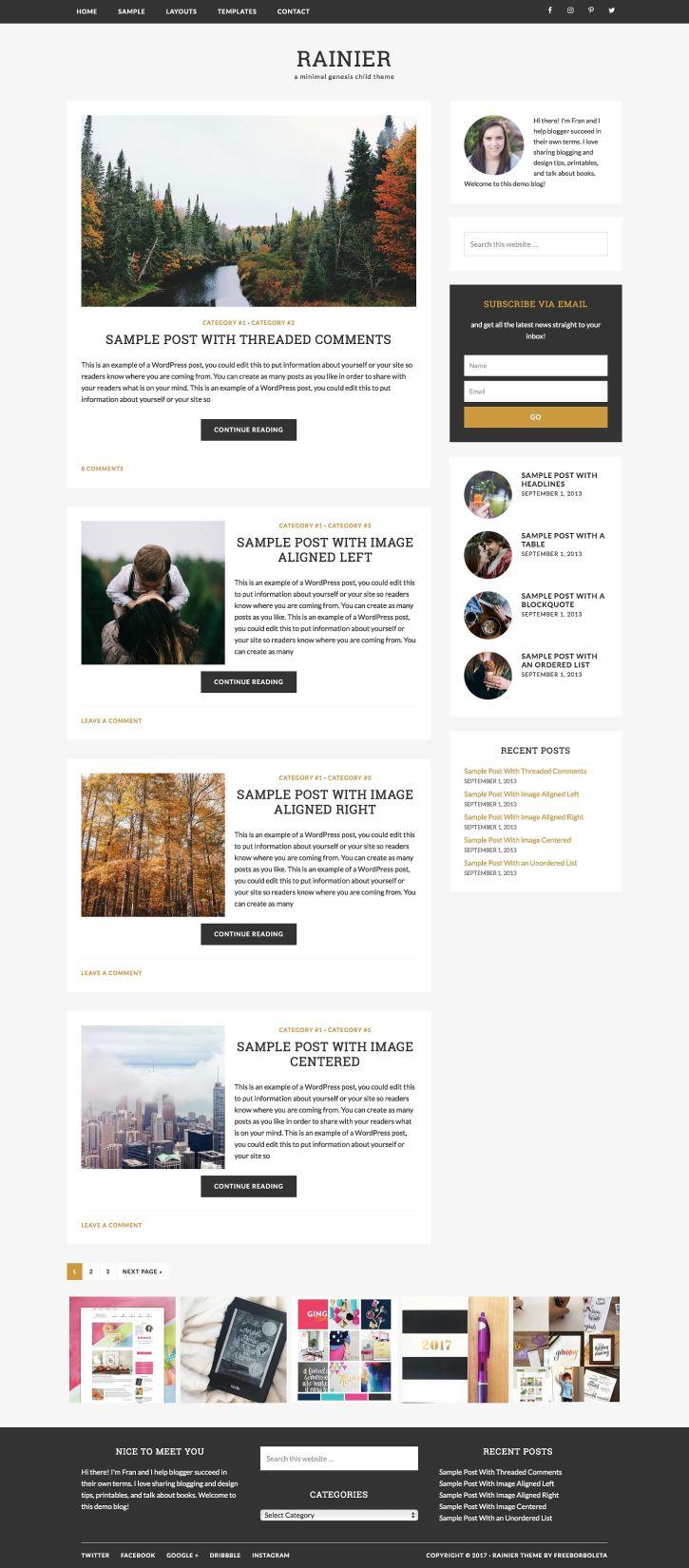 Rainier / WordPress (Genesis) Theme