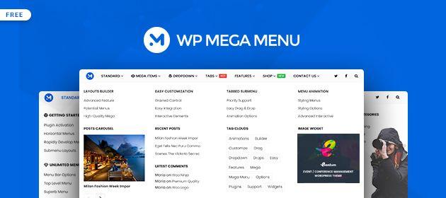 WP Mega Menu - Great Free Mega Menu Builder Plugin for WordPress - WP Mayor