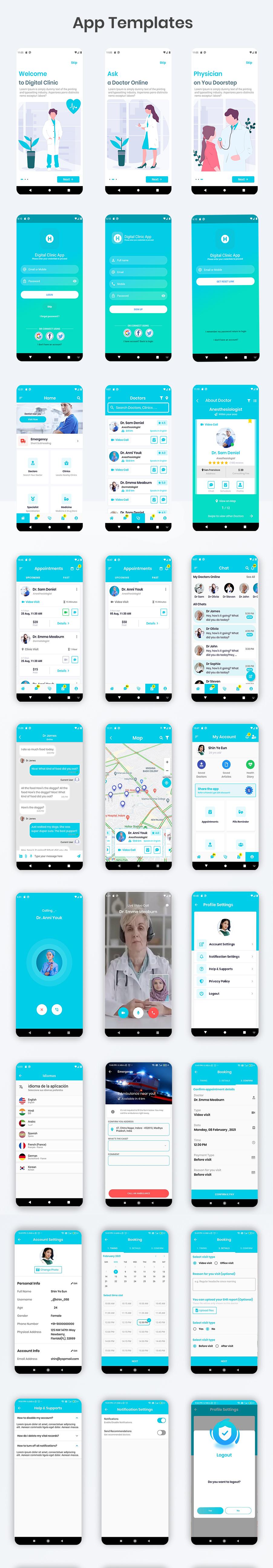 Digital Clinic Flutter App UI Kit - 2