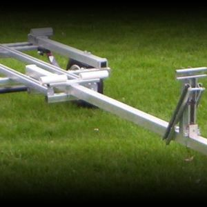 New aluminum trailer, used 17 foot alum canoe TRADES