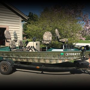 16' Bass Tracker with 50hp Johnson Motor and Trailer