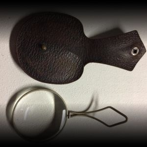 Antique Magnifying Glass & Leather Case