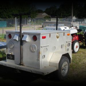 Dog Trailer 4 Place Diamond Plate Alum