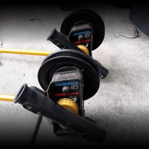 Penn 4 ft downriggers with trolling board and holders