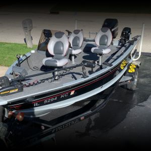 Lund Boat with Mercury 115 Opti max and 9.9 Pro Kicker