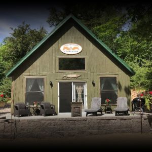 Winter cabin rentals on the Snowmobile Trail in the heart of Vilas County (Sayner WI)