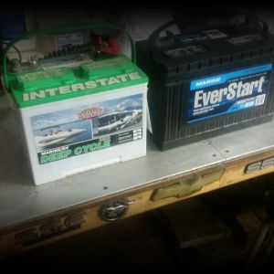 Deep cycle marine/rv battery,$35