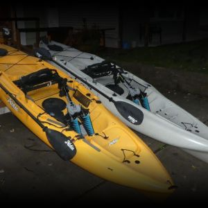 Two 2015 Hobie Mirage Outbacks