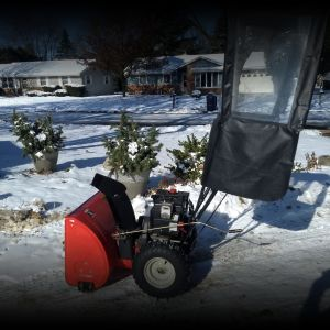 Snowblower w/snow shield