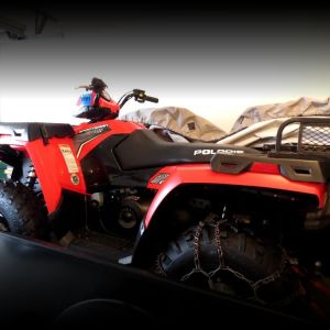 2012 Polaris ATV Sportsman 500 & Trailer