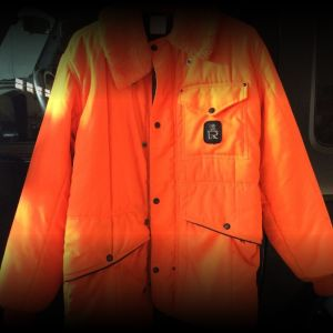 Blaze Orange Jacket and Bibs