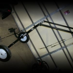 New snowmobile cart, dolly