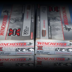Four boxes Winchester 300WSM