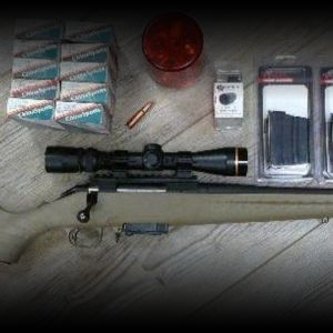 Ruger American in 7.62x39 w/ Leupold scope, ammo, dies...