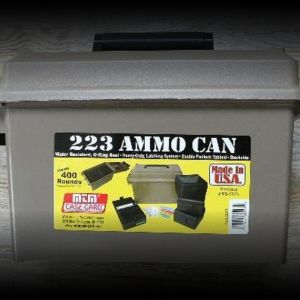400 rounds factory Remington 223 Remington w/ 55gr FMJ in ammo holders and can