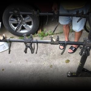 Hitch Mounted Bike Rack - Holds 4 Bikes
