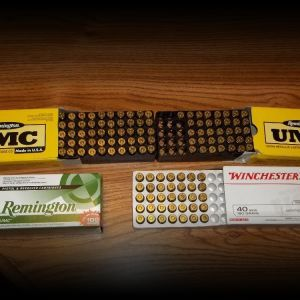 221 rounds of 40cal. ammo