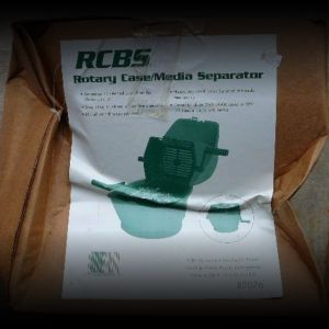 New, unused, RCBS media separator