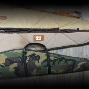 Assorted scoped rifle cases