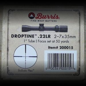 New and unused Burris Droptine 22LR 2-7x35 rifle scope