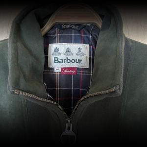 Barbour Men's Fleece Sporting Jacket Green Size XXL