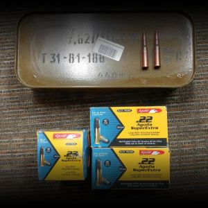 7.62x54r and .22lr ammo