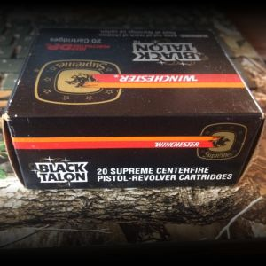 230 grain SXT 45 ACP Black Talon ammo. Box of 20 rounds. Winchester item number is S45A.