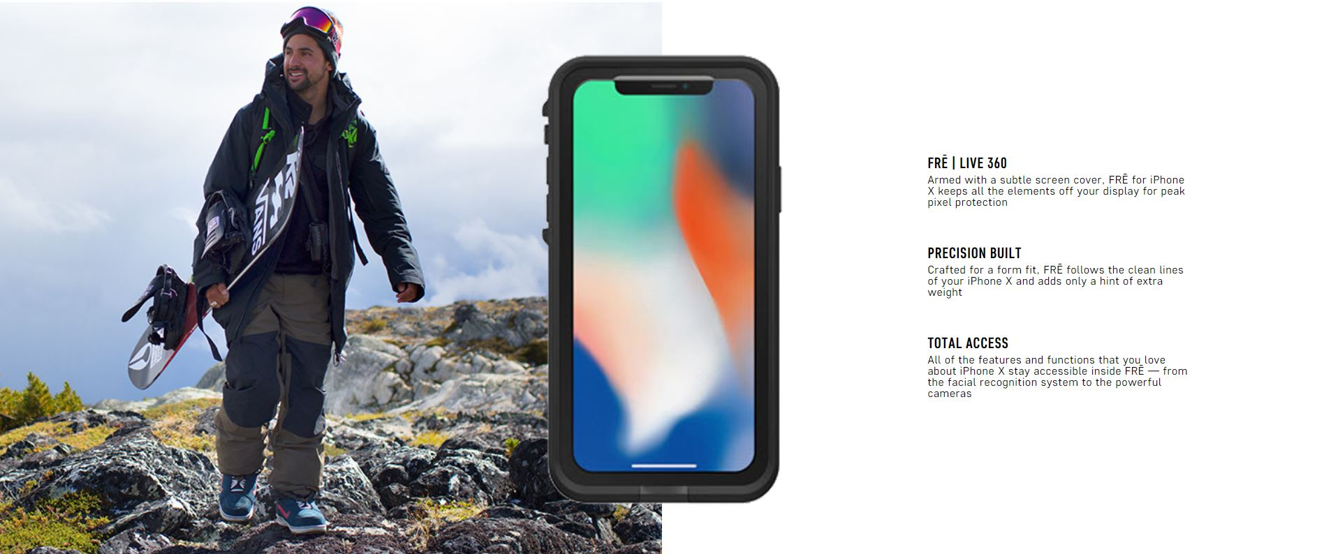 quality design bcb07 340a3 TJM - LIFEPROOF FRE for Apple iPhone X (Night Lite) - LamboPlace.com