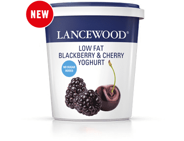 No Sugar Added Low Fat Blackberry & Cherry Yoghurt