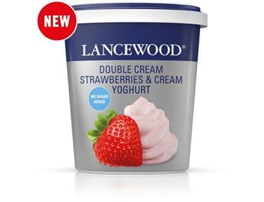 No Sugar Added Double Cream Strawberries & Cream Yoghurt